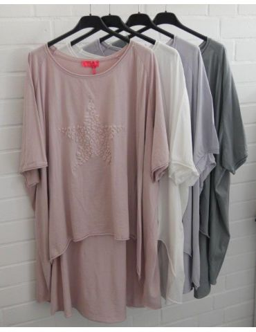 XXXL Big Size T- Shirt kurzarm grau grey 3D...