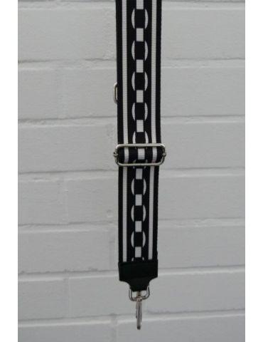 Taschen Gurt Handtasche Gürteltasche schwarz weiß Phantasiemuster Glanz