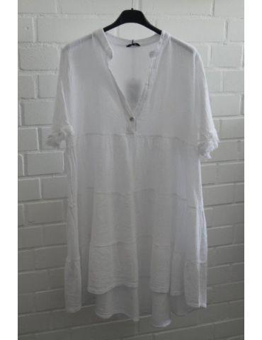 Xuna Damen Tunika Kleid Baumwolle weiß white Onesize 36 - 40