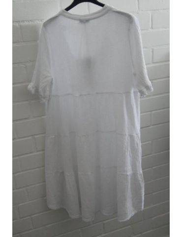 Xuna Damen Tunika Kleid Baumwolle weiß white...