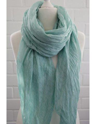 XXL Schal Tuch mint grün verwaschen 100% Baumwolle Asymmetrisch Blogger Style
