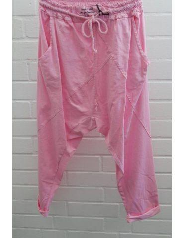 Bequeme Sportliche Damen Hose Baggy pink mit Lyocell Onesize 38 40