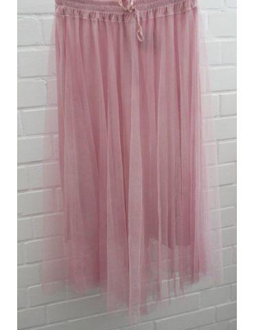 Xuna Damen Tüll Rock rose rosa Onesize ca. 38 - 42 Blogger Style