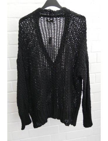 Xuna Damen Strick Jacke schwarz black...