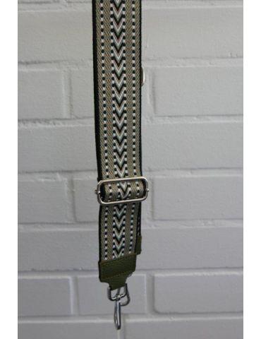 Taschen Gurt Handtasche Gürteltasche oliv weiß beige schwarz Muster