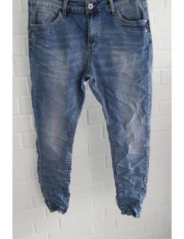 Jewelly Damen Jeans Hose heller blau verwaschen mit Baumwolle JW26100