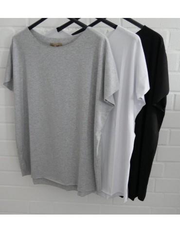 Damen Shirt kurzarm hellbeige mit Baumwolle...