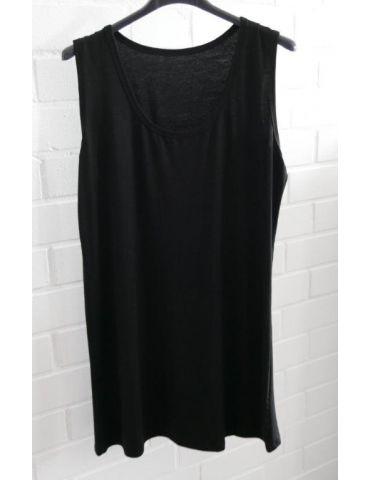 Damen Basic Top Shirt schwarz black mit Viskose Onesize 38 - 42
