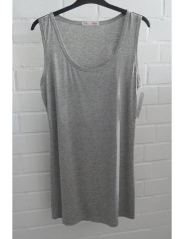 Damen Basic Top Shirt hellgrau grau meliert mit Viskose Onesize 38 - 42