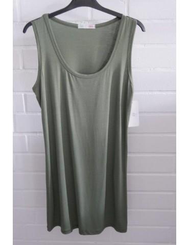 Damen Basic Top Shirt khaki oliv grün mit Viskose Onesize 38 - 42