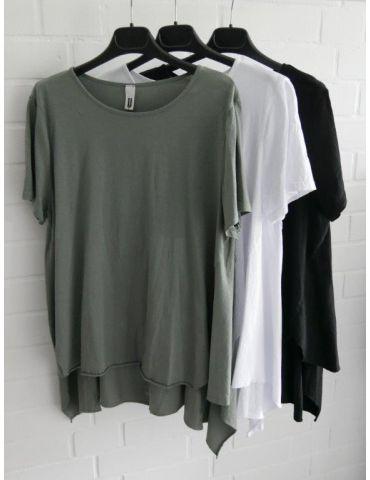 Wendy Trendy Damen Shirt kurzarm weiß white uni...
