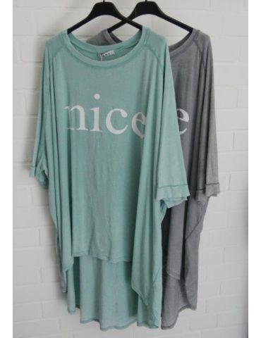 """XXXL Big Size T- Shirt kurzarm grau weiß """"NICE""""..."""