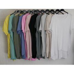 Damen Shirt A-Form kurzarm grün Baumwolle...