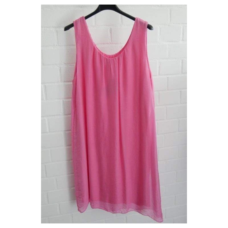 ESViViD Damen Kleid Tunika Seide pink rose Onesize ca. 36 - 42