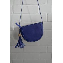 Damen Tasche Schultertasche Kunststoff royalblau
