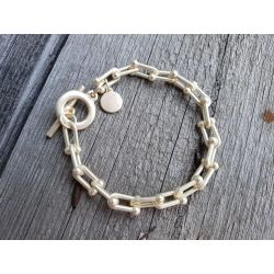 Damen Gliederarmband gold matt Metall...