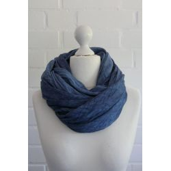 XXL Schal Tuch blau verwaschen 100% Baumwolle...