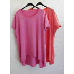 Damen Shirt A-Form kurzarm orange - lachs...