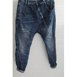Melly & Co Bequeme Sportliche Damen Jeans Baggy dunkelblau verwaschen