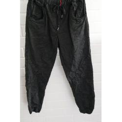 Bequeme Sportliche Damen Hose schwarz - anthrazit mit Lyocell Onesize