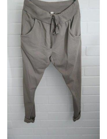 Wendy Trendy Jogginghose JoggPants Damenhose Hose taupe durchgefärbt