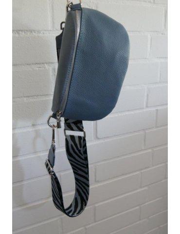 Taschen Gurt Handtasche Gürteltasche rauchblau...