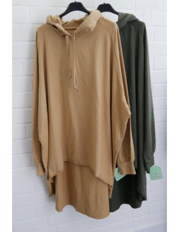 XXXL Big Size Hoodie Sweat Shirt langarm camel...