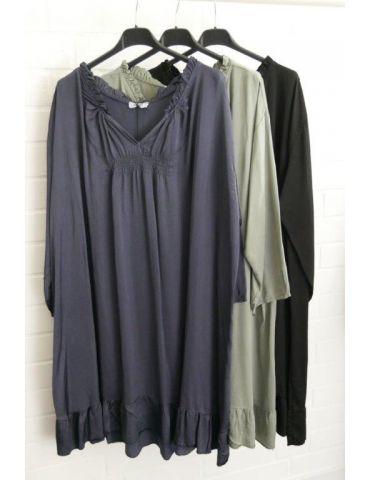 Xuna Damen Tunika Kleid Satin Raffung schwarz...