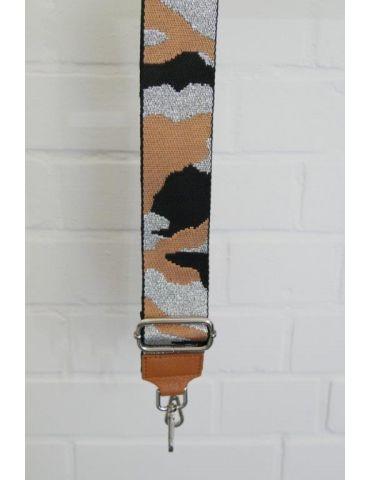 Taschen Gurt Handtasche Gürteltasche camel schwarz silber Camouflage silberne Karabiner