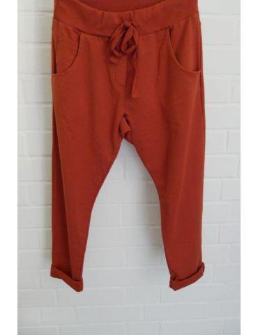 Wendy Trendy Jogginghose JoggPants Damenhose Hose rost orange durchgefärbt