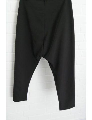 Xuna Damen Baggy Stoffhose schwarz black uni Knopf