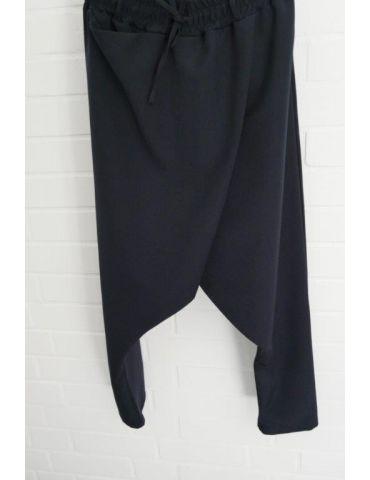 Xuna Damen Baggy Stoffhose dunkelblau marine uni mit Viskose