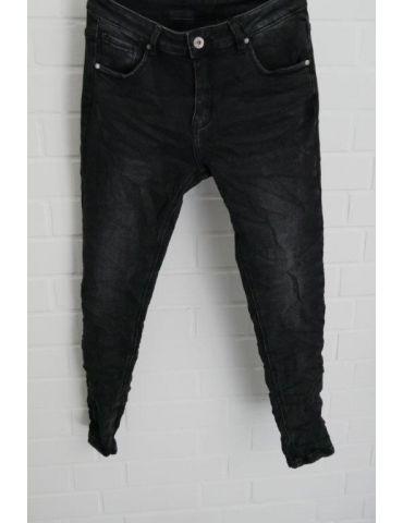 Xuna Jeans Hose Damenhose schwarz grau verwaschen mit Baumwolle 3912