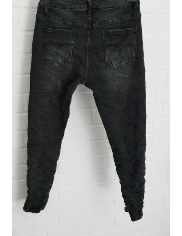 Xuna Jeans Hose Damenhose schwarz grau...