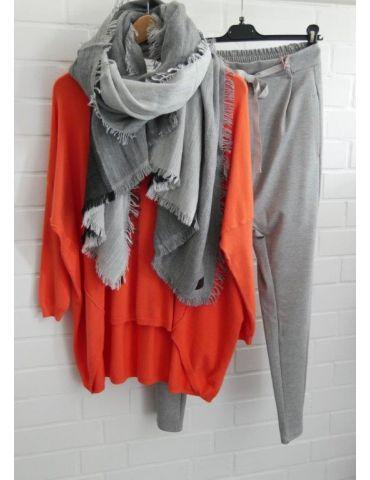 ESViViD Damen Pullover orange Rundhals Onesize...