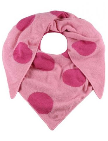 Zwillingsherz Wende Dreieckstuch rose pink Riesen Punkte mit Kaschmir