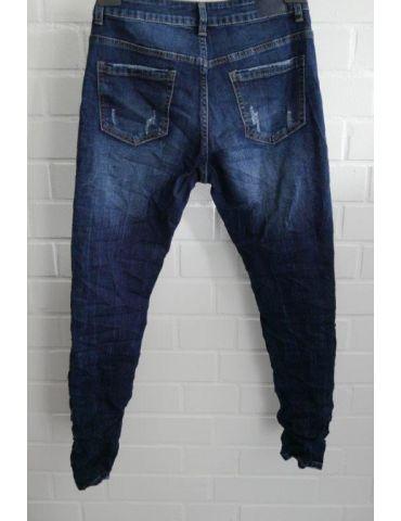 Xuna Jeans Hose Damenhose blau verwaschen mit...