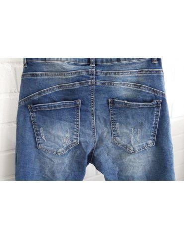 Melly & Co Bequeme Sportliche Damen Jeans blau...