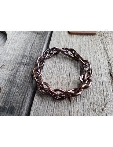 Trendiges Gliederarmband Elastisch braun brown Glänzend Kunststoff Onesize