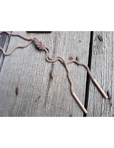 Bijoux Modeschmuck Kette Damen Halskette lang beige geknottet Metall