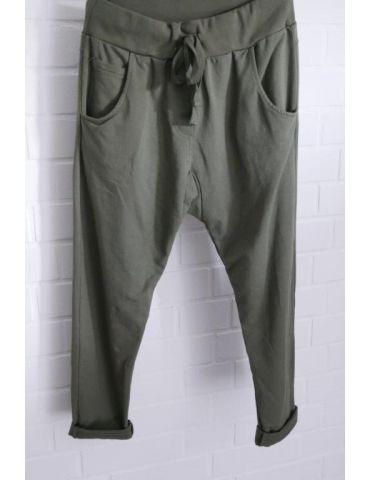 Wendy Trendy JogPants Jogginghose Damenhose Hose dunkelkhaki durchgefärbt