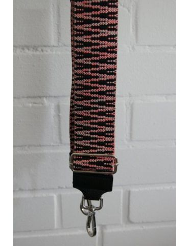 Taschen Gurt Handtasche Gürteltasche schwarz rose Muster Silberne Karabiner