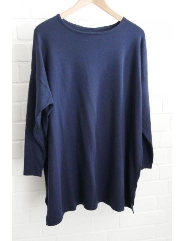 ESViViD Damen Pullover dunkelblau marine Onesize ca. 38 - 48 mit Viskose 7068