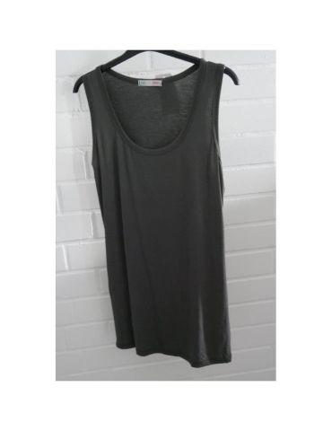 Damen Basic Top Shirt anthrazit grau mit Viskose Onesize 38 - 44 weiter