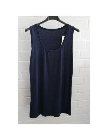 Damen Basic Top Shirt dunkelblau marine mit Viskose Onesize 38 - 44 weiter