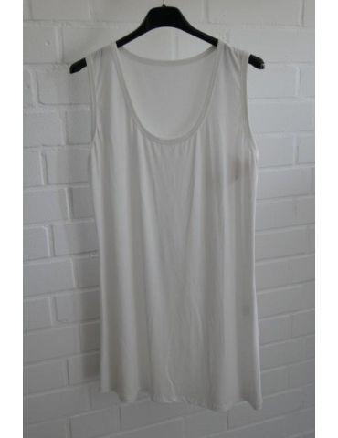 Damen Basic Top Shirt creme off-white mit Viskose Onesize 38 - 44 weiter