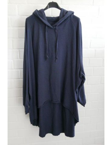 XXXL Big Size Hoodie Sweat Shirt langarm dunkelblau marine Baumwolle Onesize 38 - 50