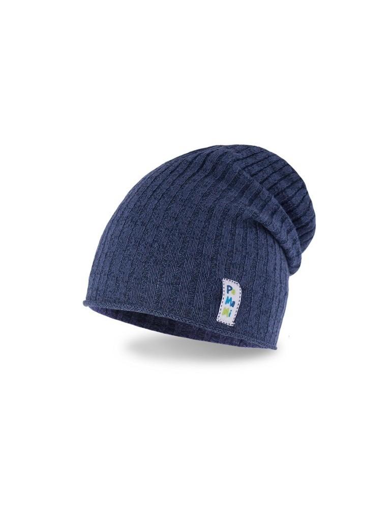 PaMaMi Jungen Mütze Kinder Boy Boys Kids dunkelblau blau 16301 Schals dazu im Shop