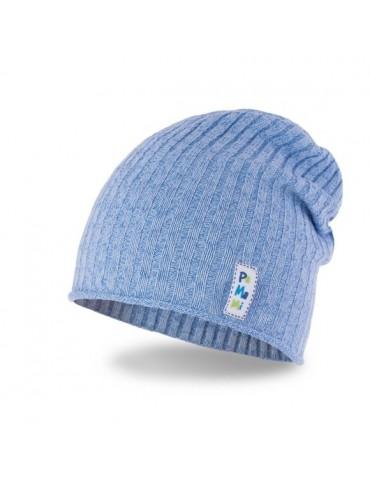 PaMaMi Jungen Mütze Kinder Boy Boys Kids hellblau blau 16301 Schals dazu im Shop