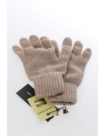 Zwillingsherz Handschuhe Fingerhandschuhe Classic sand beige uni mit Kaschmir